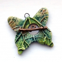 Toggle Clasp Statement Size Butterfly