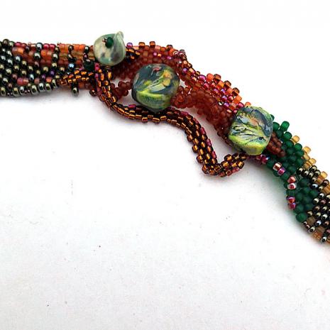 Freeform Peyote Stitch Bracelet