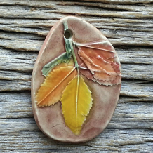 Ceramic Pendant Fall Leaves