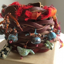 Beads, Buttons, and Braids  Stacked Bracelets Tutorial