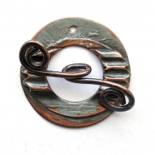 Toggle Clasp Textured Surface  Copper
