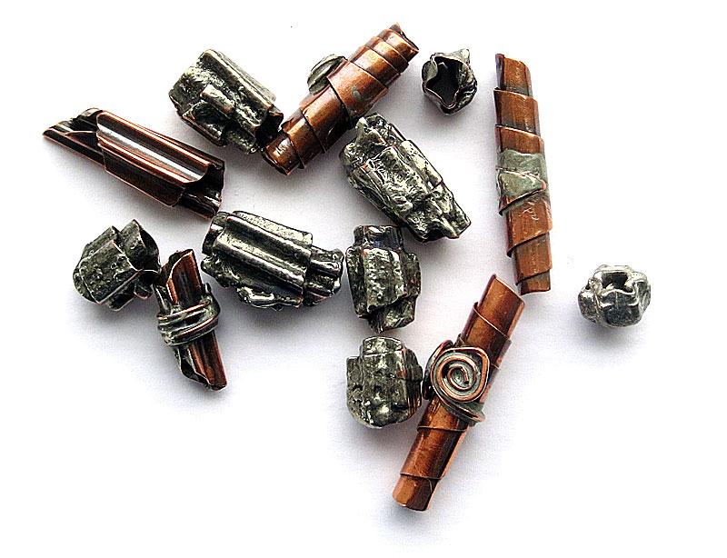 Handmade copper beads
